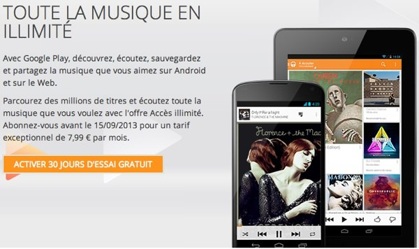 Google Play Music All Access France