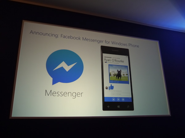 Facebook Messenger Bientot Disponible Windows Phone