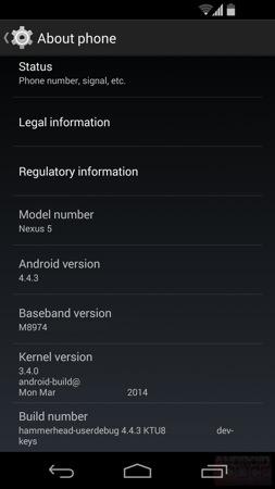 Android 4.4.3 Fuite