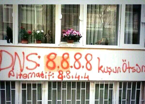 DNS Google Turquie Blocage Twitter