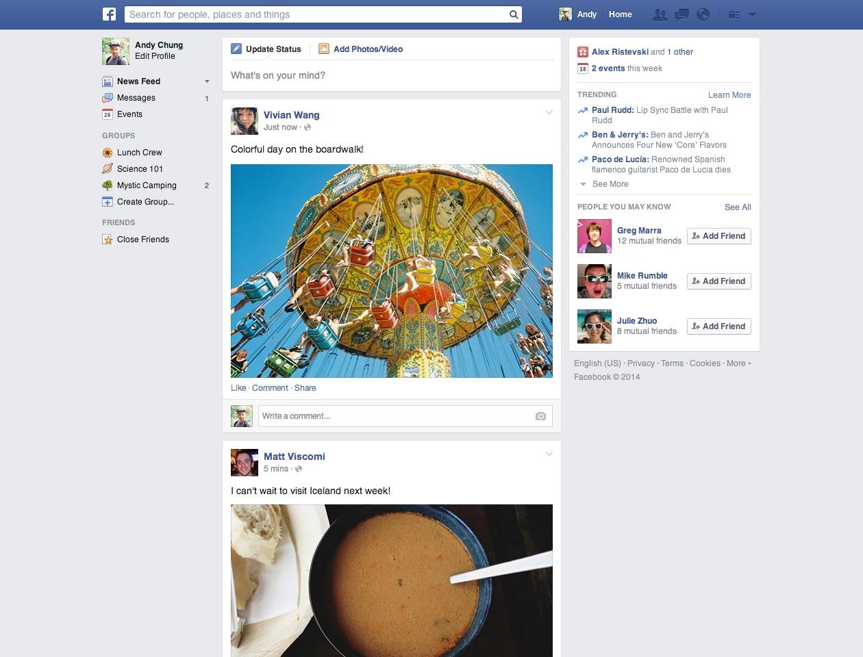 Facebook Nouveau Fil Actualite