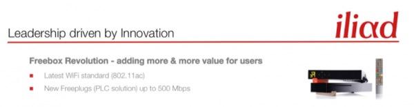 Freebox Revolution WiFi 802.11ac CPL 500 Mbps Fuite