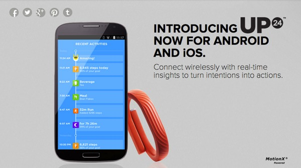 Jawbone UP24 Android