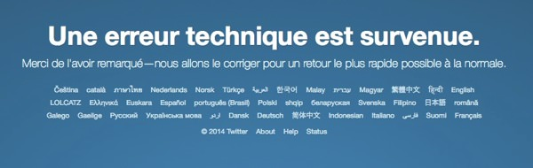 Twitter Hors Service