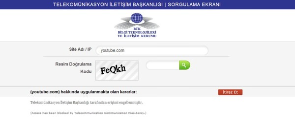 YouTube Blocage Turquie