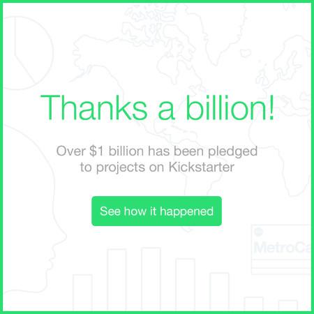 kickstarter milliard