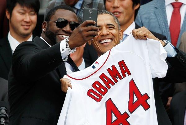 David Ortiz Selfie Obama