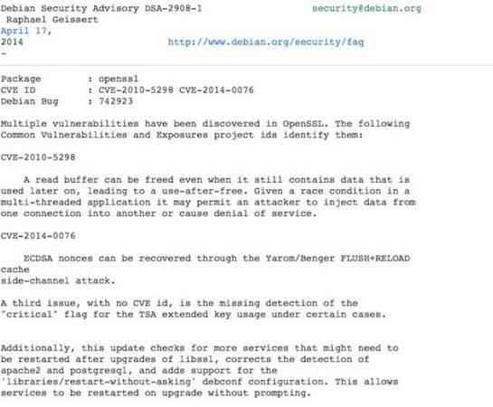 Debian-OpenSSL -bug