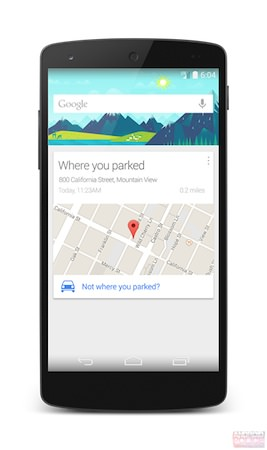Maquette Google Now Rappel Parking Voiture