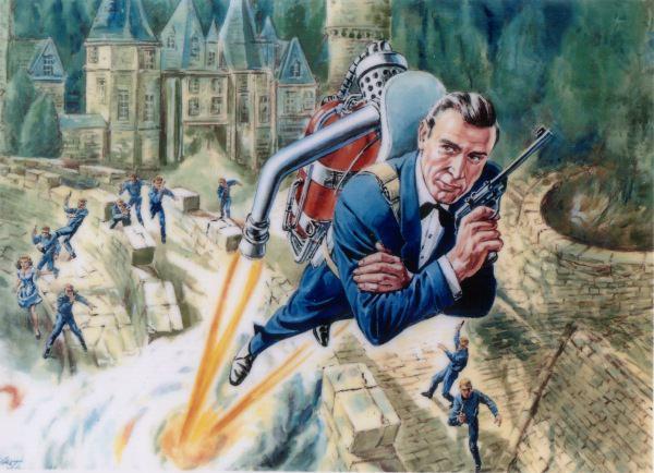 Jet Pack James Bond Dessin