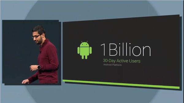 Android 1 milliard utilisateurs mensuels