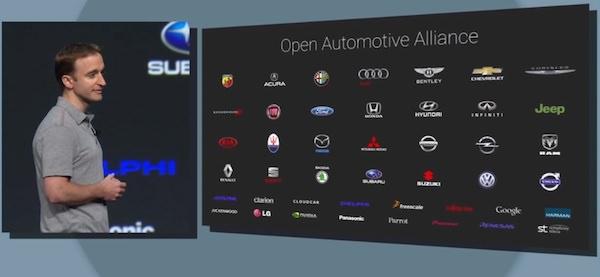 Android Auto Constructeurs Partenaires