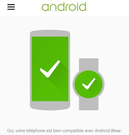 Android Wear Verifier Compatibilite Smartphone