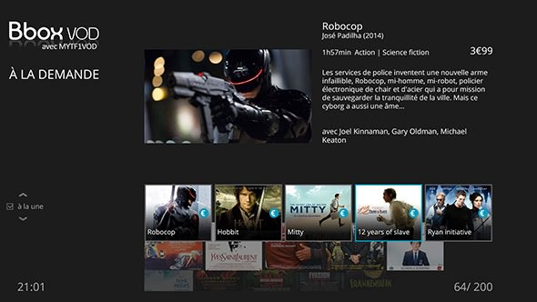 Bouygues Box Android TV Interface
