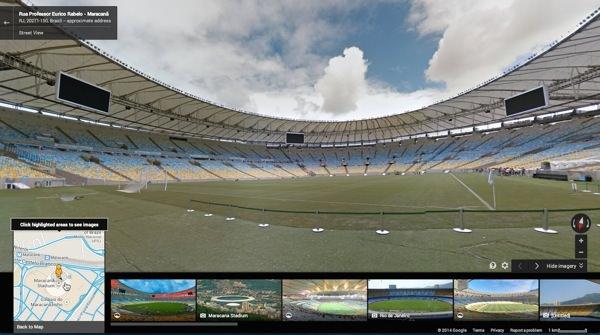 Google Maps Street View Stade Bresil