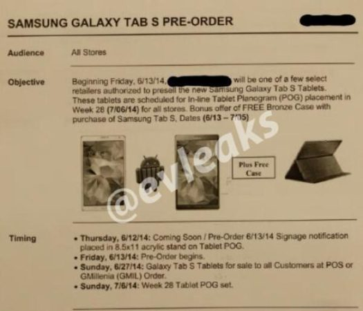 Leak-Galaxy Tab S