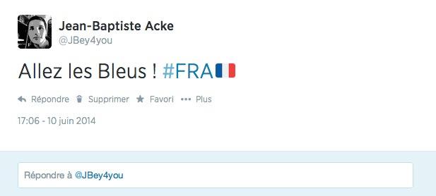 Twitter Coupe du Monde Bresil 2014 Drapeaux Hashtag
