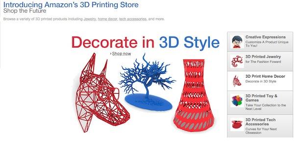 Amazon Boutique Imprimes 3D