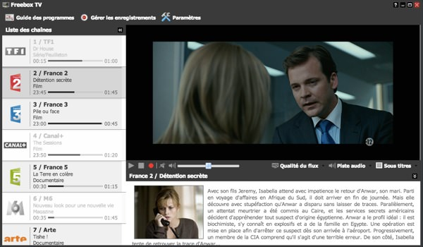 Freebox OS 3.0 Television Navigateur
