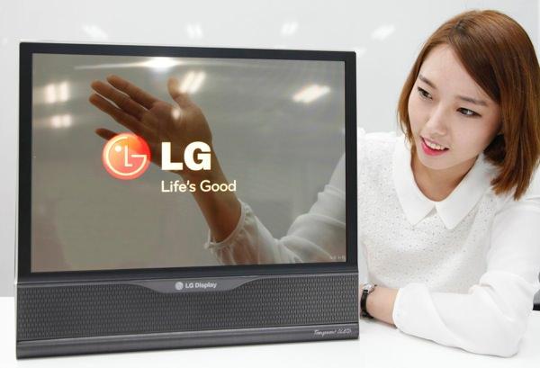 LG Ecran 18 Pouces Transparent