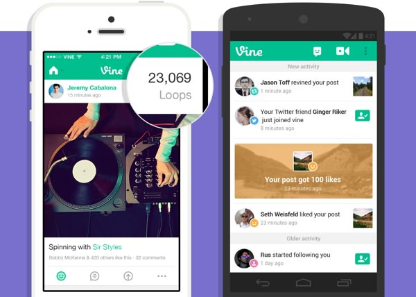 Vine Boucles iOS Android
