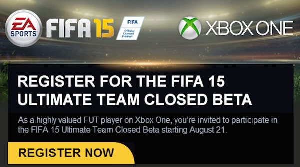 FIFA 15 Invitation Beta Fermee