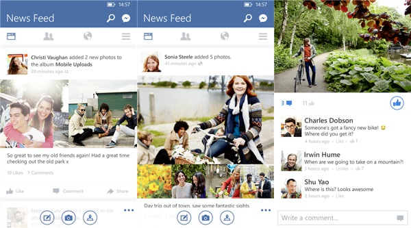 Facebook Windows Phone Version 5.3