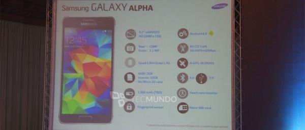 Galaxy Alpha Fuite Caracterisiques