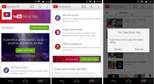 YouTube Music Key Fuite