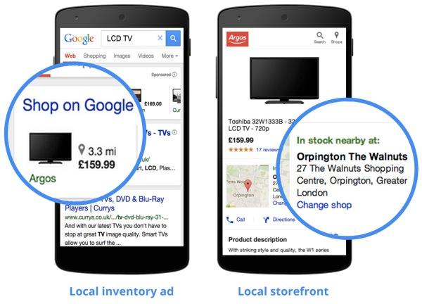 Google annonces produit en magasin