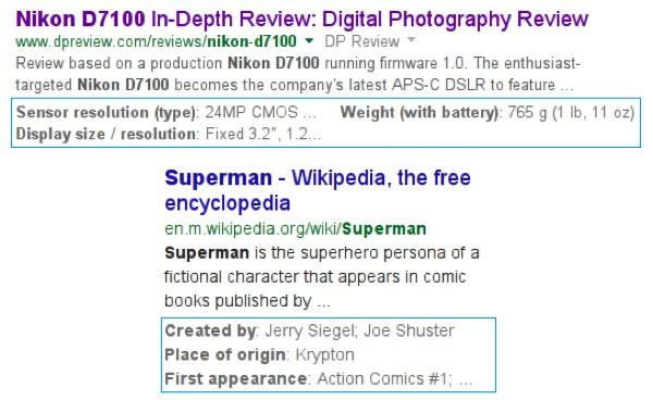 Recherche Google Extraits Structures