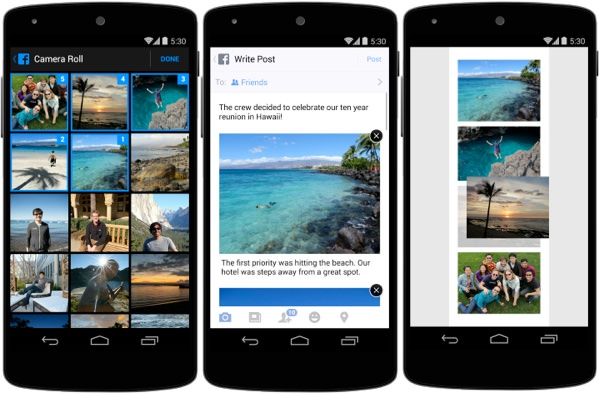 Facebook Changer Ordre Photo Android