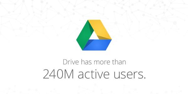 Google Drive 240 Millions Utilisateurs