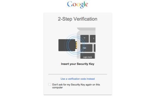 Google Verification Deux Etapes Cle USB