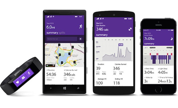 Microsoft Band Microsoft Health Application