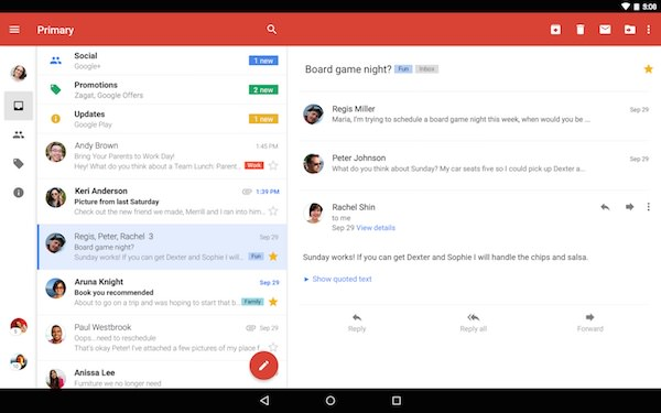 Gmail 5.0 Application Android