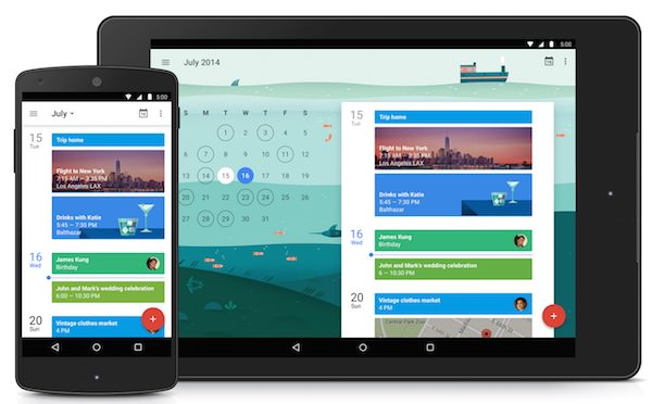 Google Agenda 5 Application Android