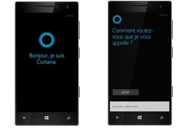 Cortana Windows Phone Francais