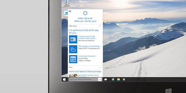 Cortana Windows 10 PC