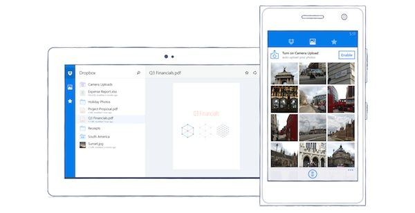 Dropbox Application Windows Phone