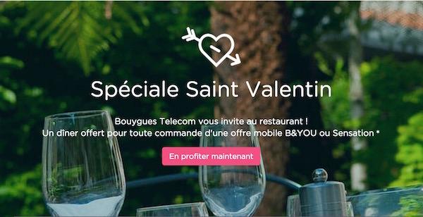 Bouygues Telecom Saint Valentin Repas Offert