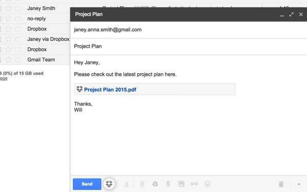 Dropbox Extension Chrome Gmail
