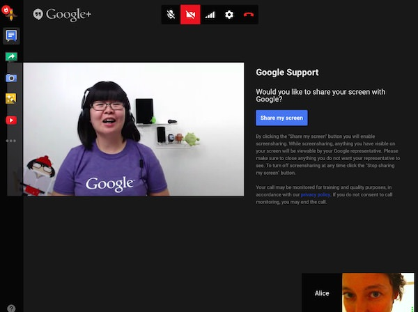 Google Service Client Appel Video