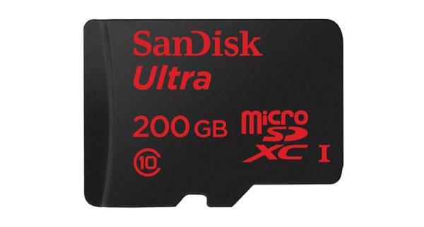 Carte Micro SD SanDisk 200 Go
