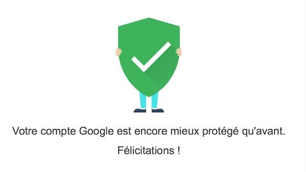Compte Google Protege