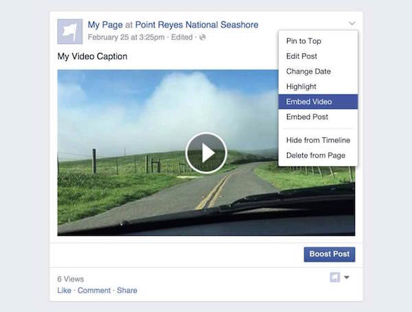 Facebook Integrer Video