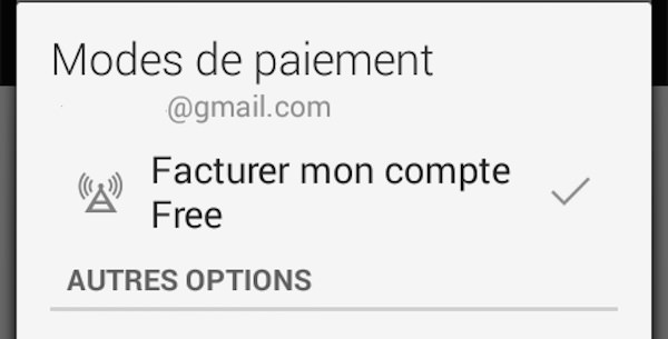 google play le paiement sur facture est propos aux clients free mobile kulturegeek. Black Bedroom Furniture Sets. Home Design Ideas