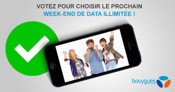 Bouygues Telecom Week-End Illimite Choix Date
