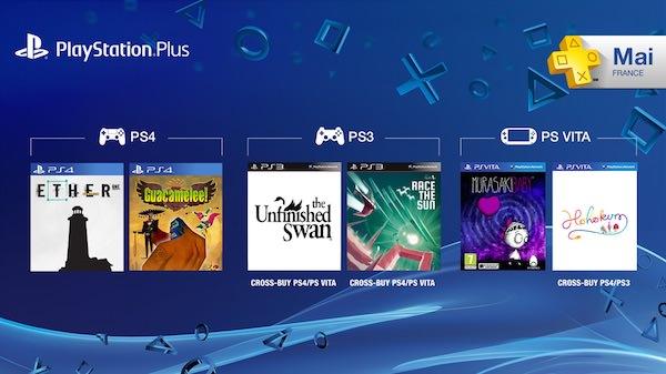 PS Plus Jeux Offerts Mai 2015
