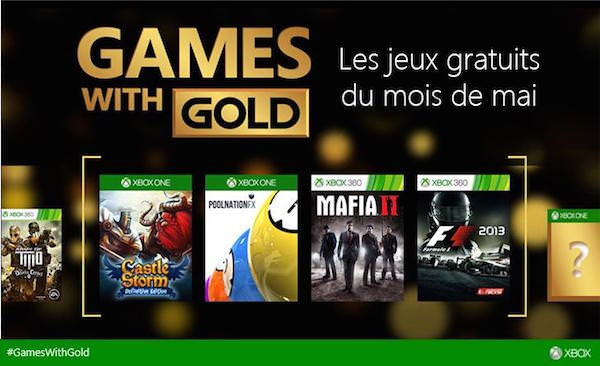 Xbox Live Jeux Offerts Mai 2015